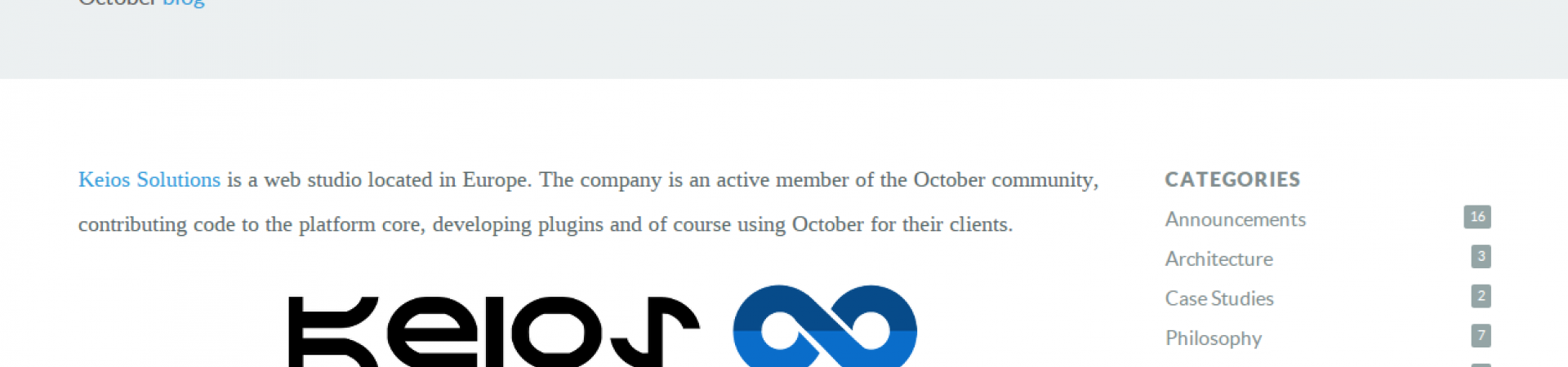 Keios Solutions @ OctoberCMS blog