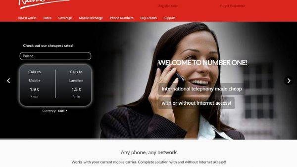 NumberOne Website