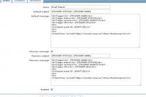 HTML E-mails from Zabbix